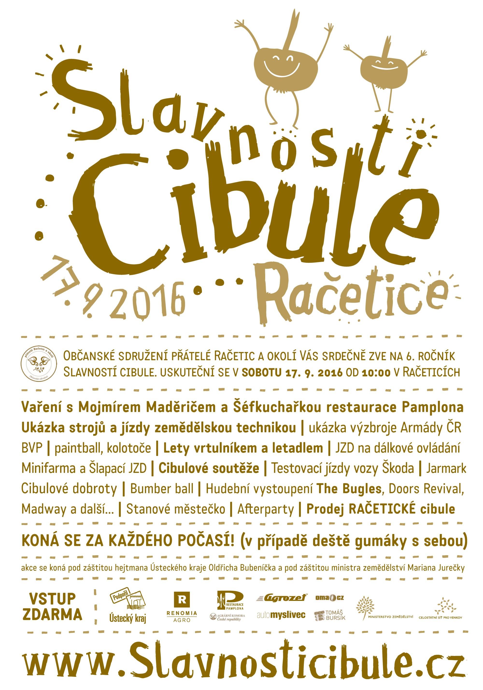 Slavnosti cibule 2016 plakát
