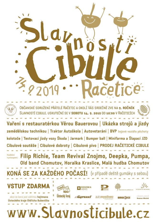 Plakát Slavnosti cibule 2019